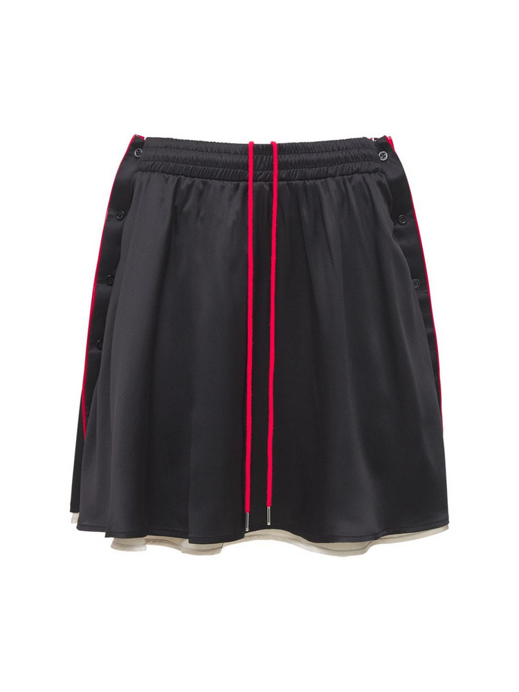 Y PROJECT Reversible Silk Satin Button Skirt