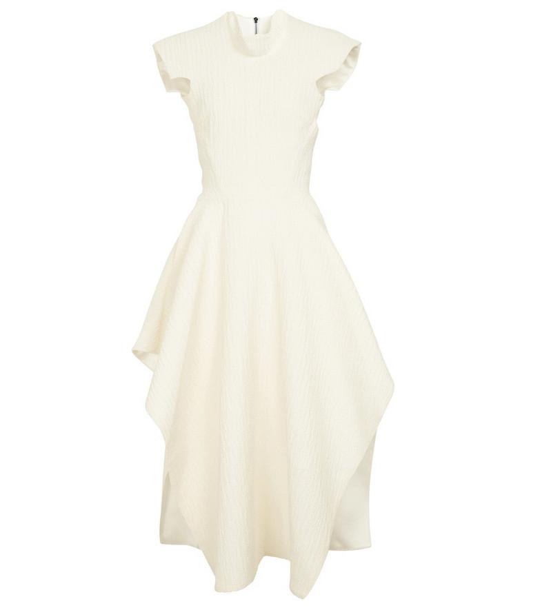 Maticevski Collide jacquard midi dress in white