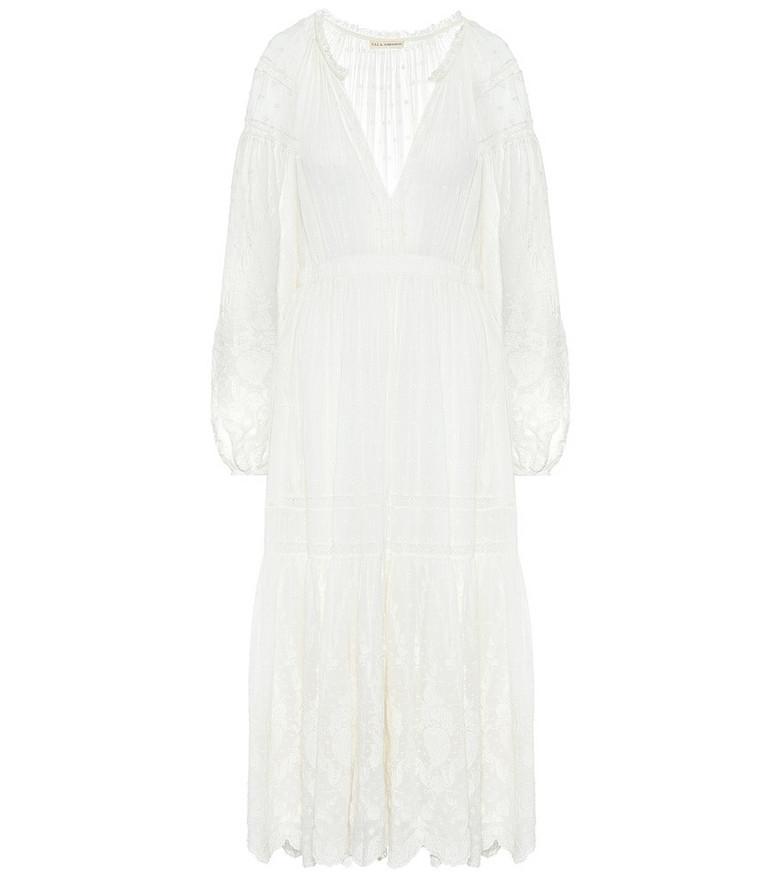 Ulla Johnson Bettina cotton midi dress in white
