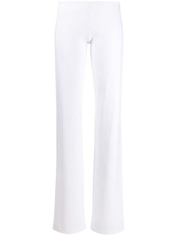 Fisico slim-fit flared trousers in white