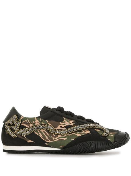 Nº21 Strike camouflage print sneakers in green