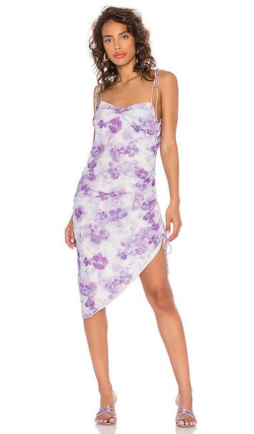 For Love & Lemons Zinna Midi Dress in Lavender in purple