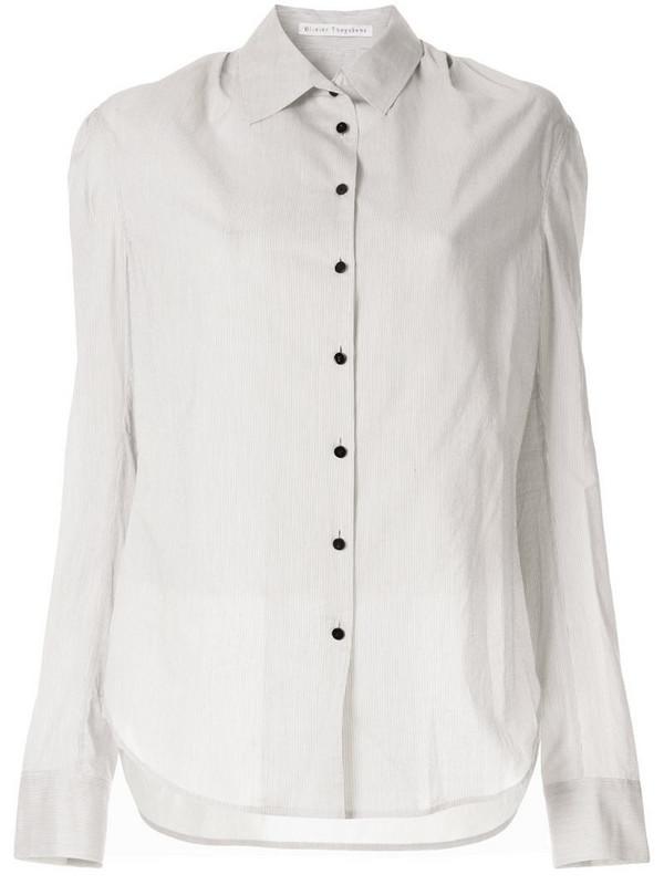 Olivier Theyskens striped shirt in white