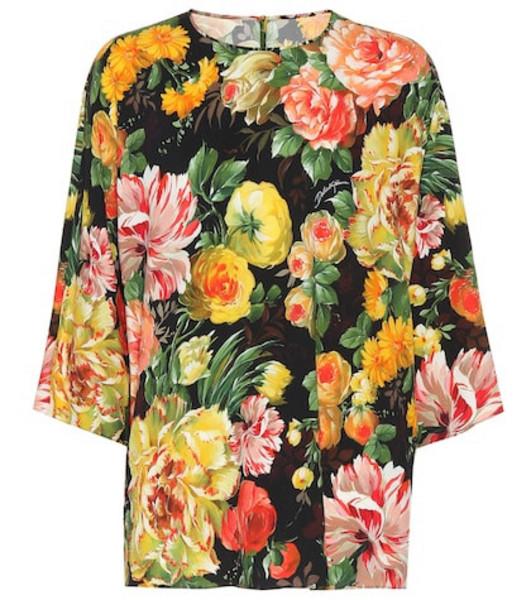 Dolce & Gabbana Floral crêpe top