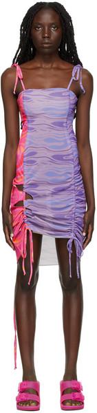 AVAVAV Multicolor Mini Cut-Out Dress in purple