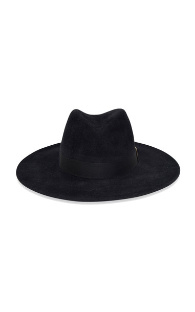 Gigi Burris Jeanne Velour Felt Hat in black