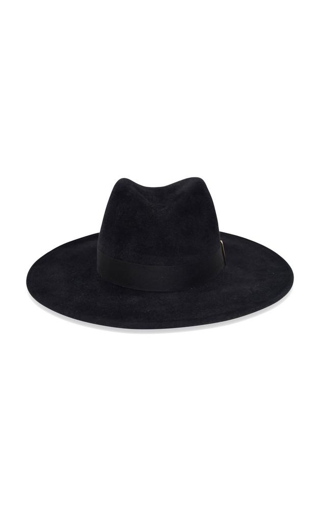 Gigi Burris Jeanne Velour Felt Hat in black