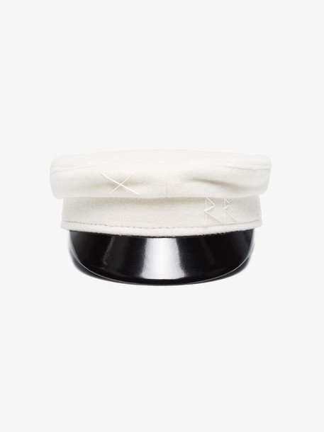 Ruslan Baginskiy white wool baker boy hat