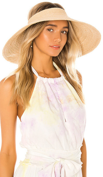 Janessa Leone Nico Packable Hat in Tan in natural