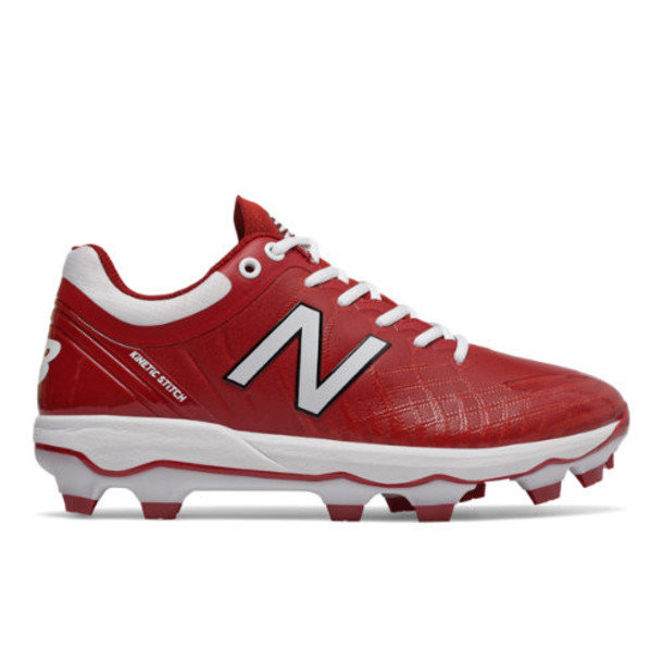 New Balance 4040v5 TPU Men's Cleats and Turf Shoes - Red/White (PL4040M5)