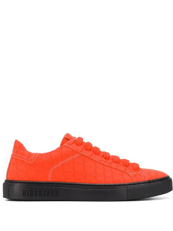 Hide&Jack mistrached low-top sneakers in red