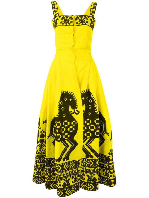 Yuliya Magdych Herd skirt and top set in yellow