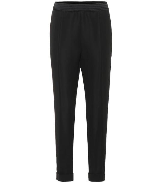 Haider Ackermann High-rise straight wool pants in black
