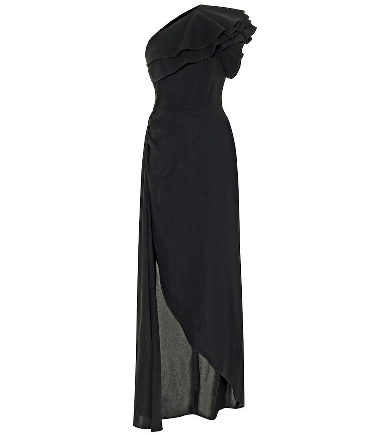 Elie Saab Asymmetrical gown in black