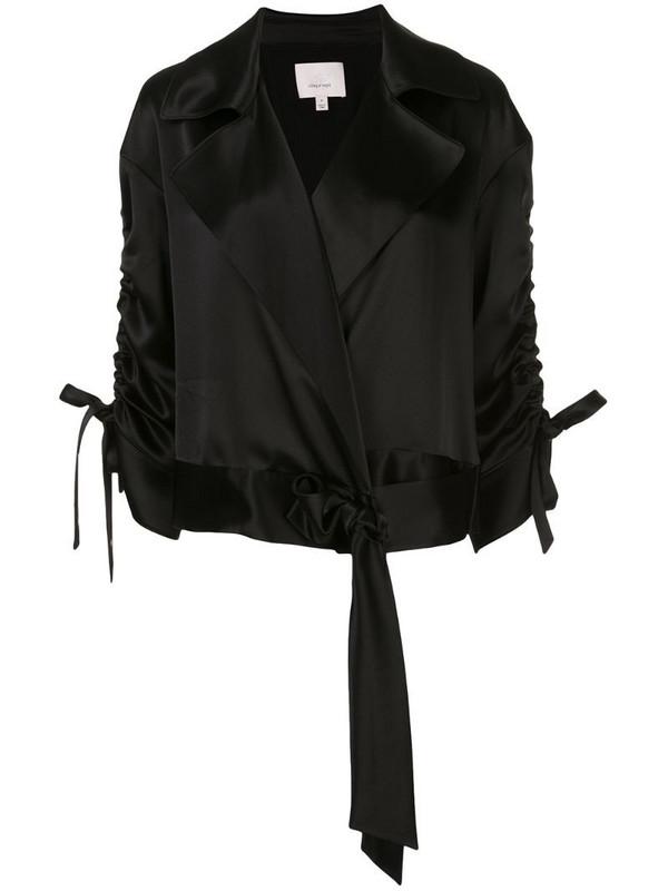 Cinq A Sept Aziza silk jacket in black