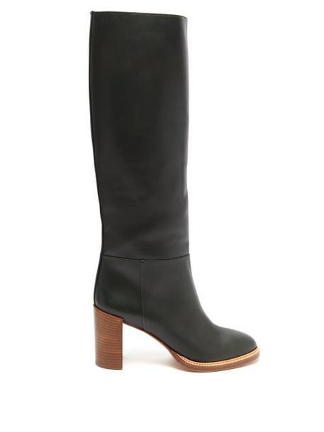 Gabriela Hearst - Bocca Knee High Leather Boots - Womens - Khaki