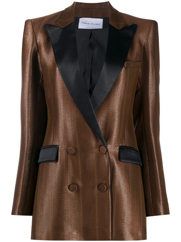 Hebe Studio double breasted blazer in black