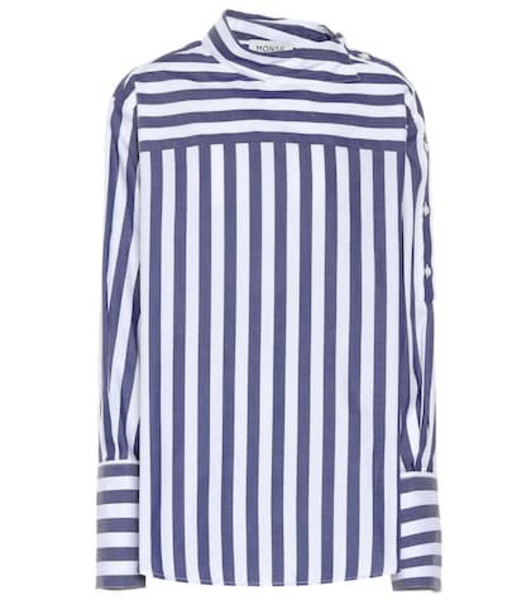 Monse Striped cotton top in blue