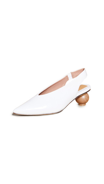 JAGGAR Spheric Point Toe Pumps in ivory