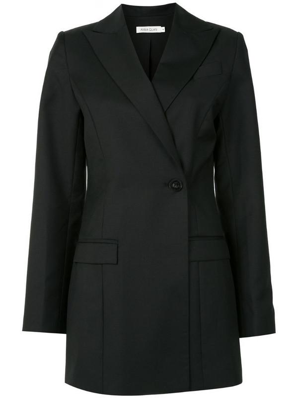 Anna Quan Sienna one button blazer in black