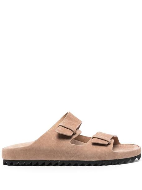 Officine Creative buckled suede sandals in neutrals