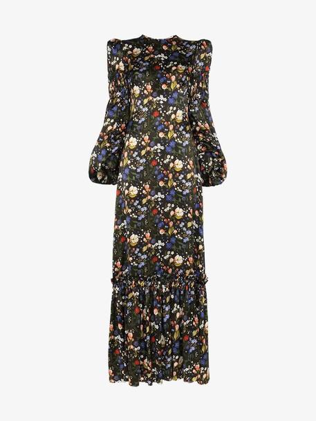 The Vampire's Wife Nine floral-print silk maxi dress