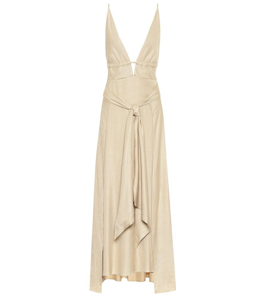 Cult Gaia Margot maxi dress in beige
