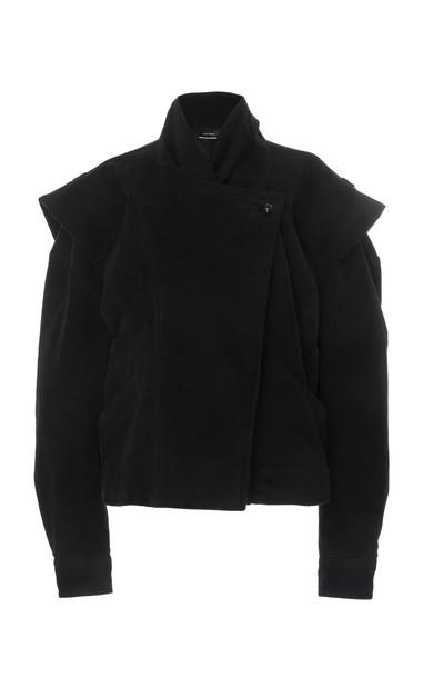 Isabel Marant Dina Cape-Sleeve Cotton Jacket in black