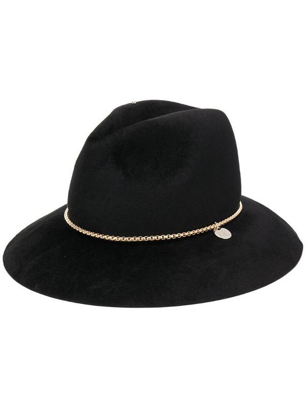 Ruslan Baginskiy chain-embellished fedora hat in black