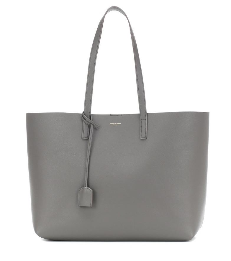 Saint Laurent Leather shopper in grey