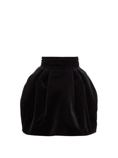 Alexandre Vauthier - Puffed Velvet Mini Skirt - Womens - Black
