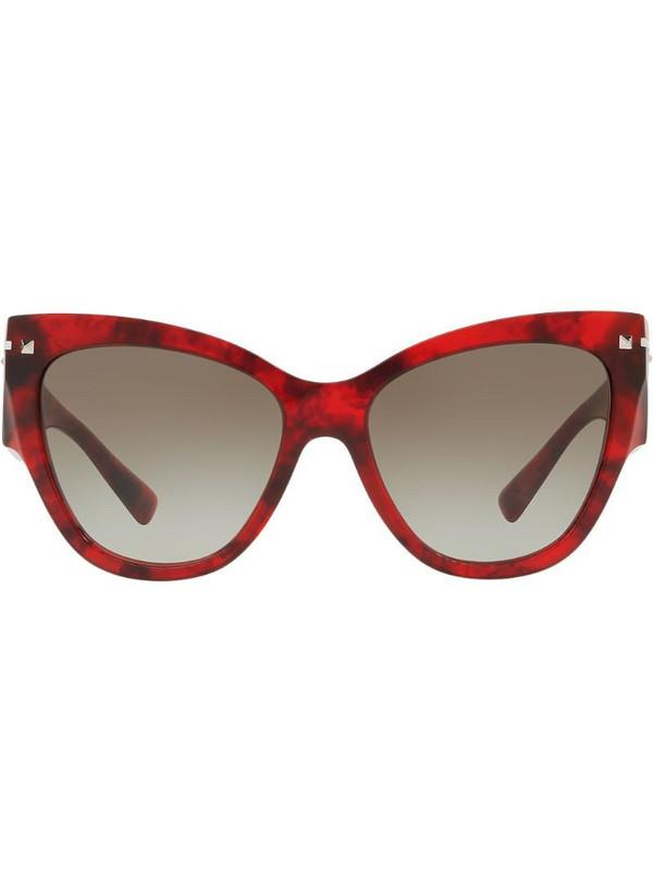 Valentino Eyewear cat-eye frame sunglasses in red