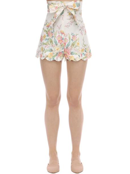 ZIMMERMANN Printed Linen Shorts
