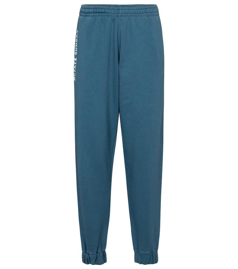 ROTATE BIRGER CHRISTENSEN Logo cotton jersey sweatpants in blue