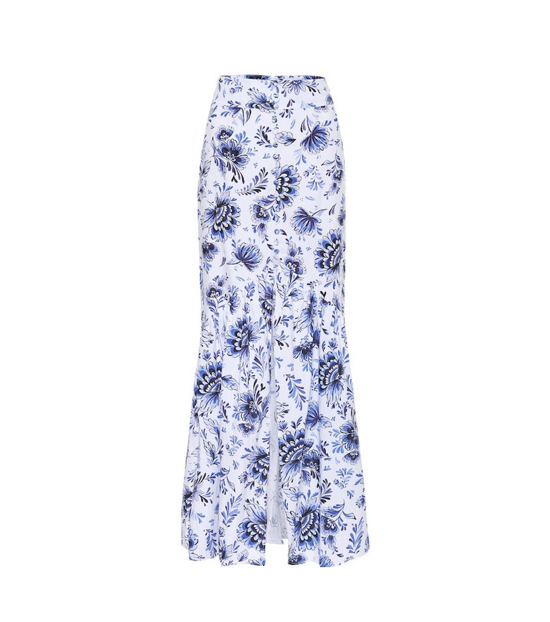 Alexandra Miro Exclusive to Mytheresa – Delliah printed cotton skirt in blue