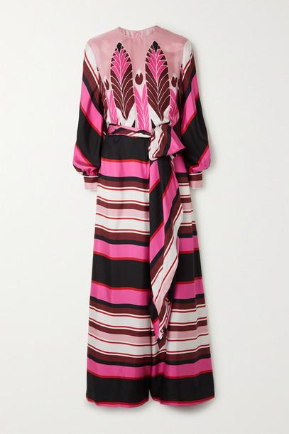 VALENTINO - Printed Silk Crepe De Chine Jumpsuit - Pink
