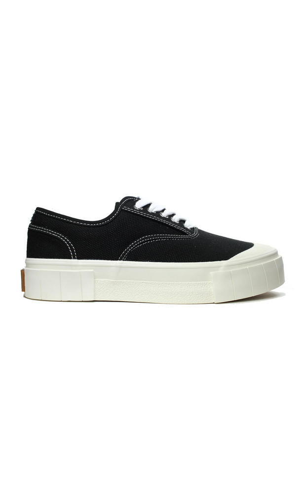 Good News Ace Canvas Platform Low-Top Sneakers in black