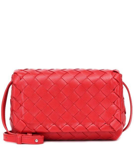 Bottega Veneta Olimpia Mini leather shoulder bag in red