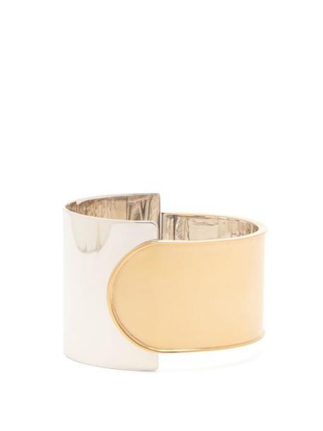 Bottega Veneta - Gold Plated Silver Cuff - Womens - Silver