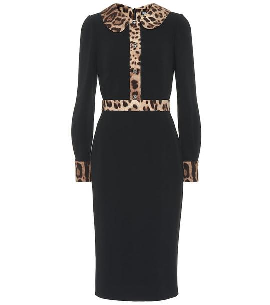 Dolce & Gabbana Crêpe midi dress in black