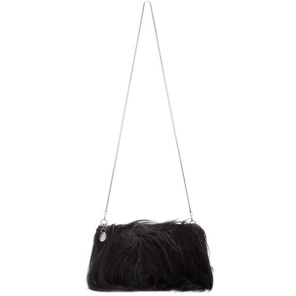 MM6 Maison Margiela Black Hairy Bag