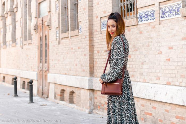 with or without shoes blogger dress coat bag belt shoes