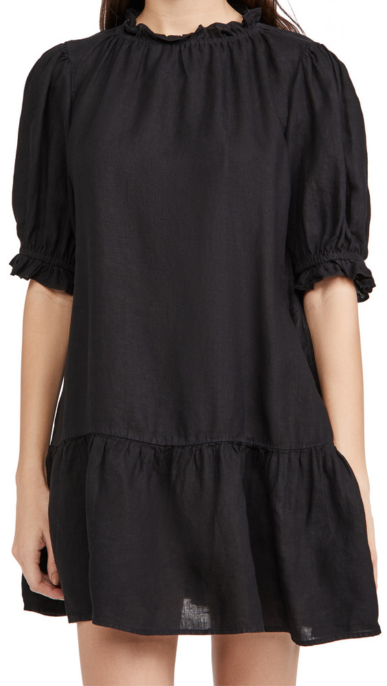 Velvet Bernice Dress in black