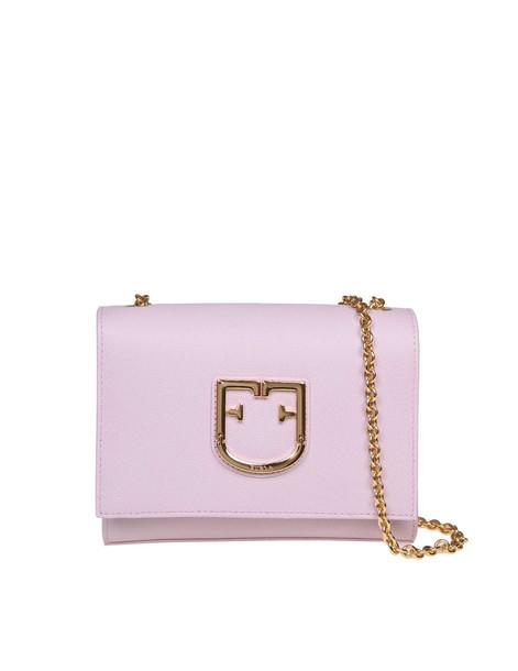 Furla Shoulder Bag Viva Mini In Pink Leather