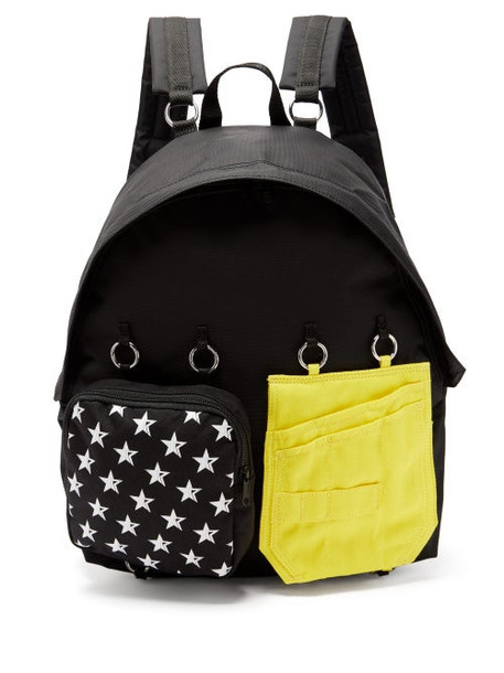 Raf Simons X Eastpak - Doubl'r Panelled Technical-canvas Backpack - Womens - Black Multi