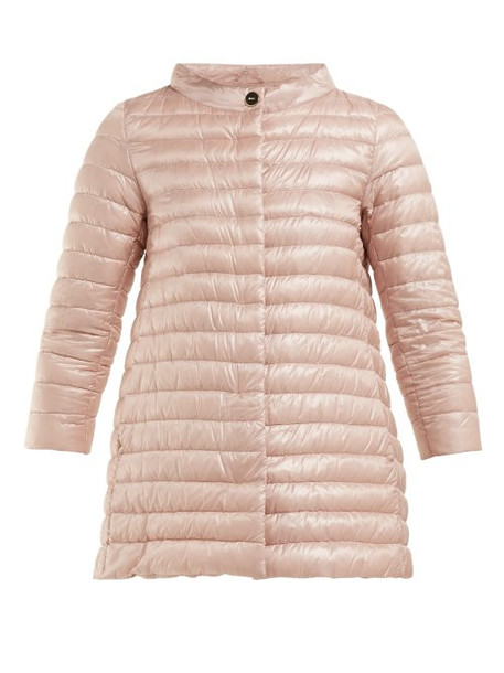 Herno - Rosella Quilted Down Jacket - Womens - Light Pink