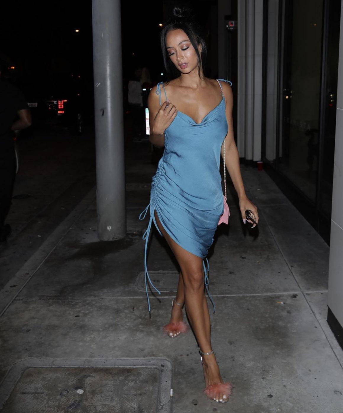 dress midi dress silk satin dress draya michele celebrity summer dress