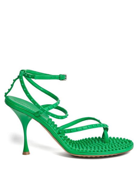 Bottega Veneta - Lagoon Bubble-insole Leather Sandals - Womens - Green