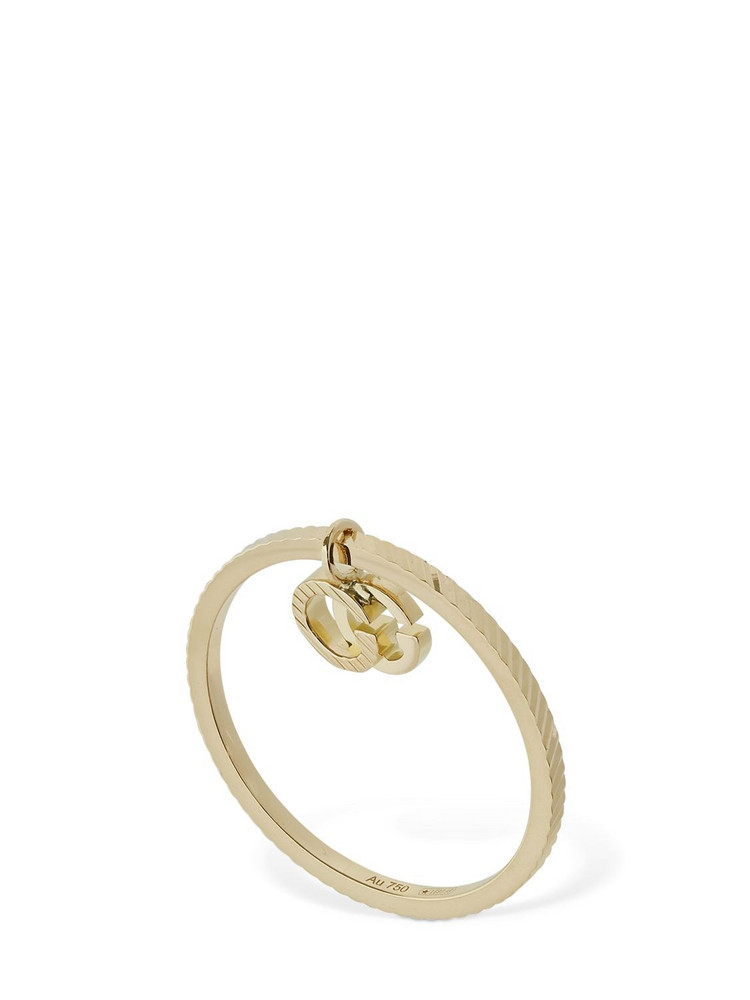 GUCCI 18kt Gold Gg Running Ring