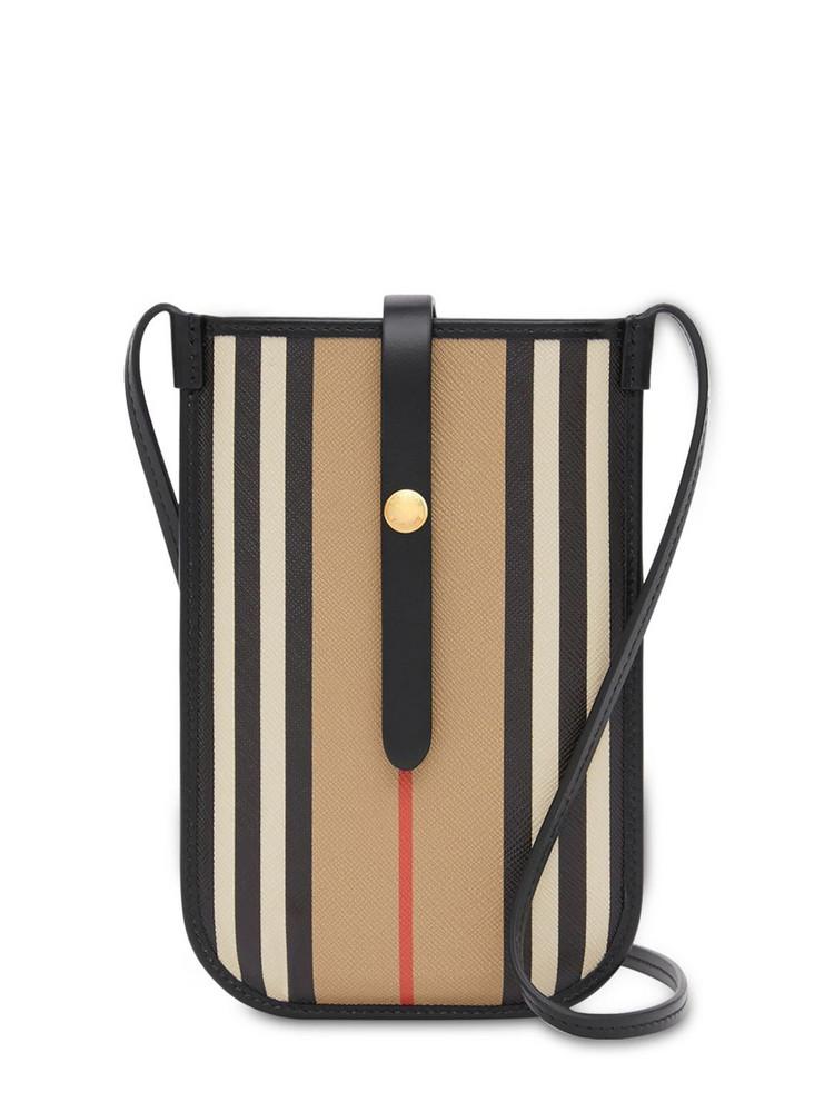 BURBERRY Anne Icon Stripe Phone Bag in beige